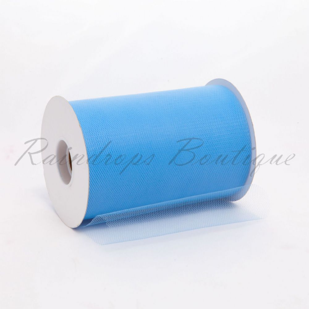 Sky Blue Tulle Roll 100 Yards